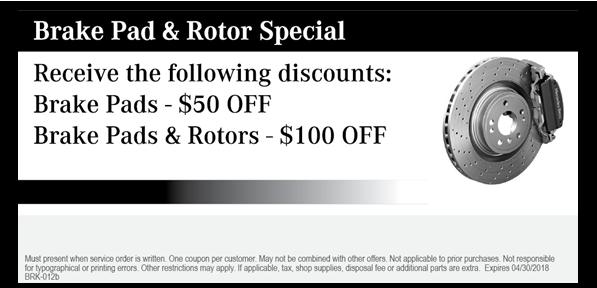 Brake Pad & Rotor Special