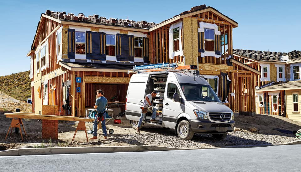 2017 Sprinter Cargo Van Exterior on job site