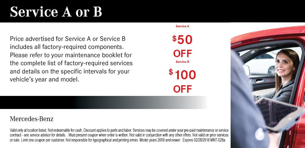 Mercedes benz oil change coupons auto service coupons for Mercedes benz service b coupons