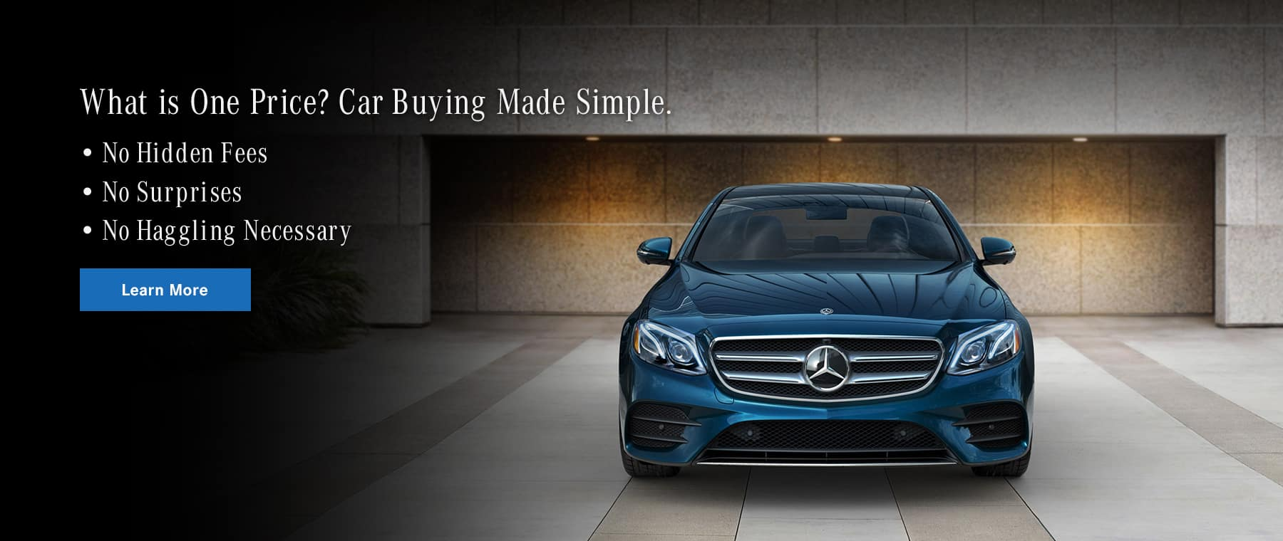 What is Mercedes-Benz One Price? Banner