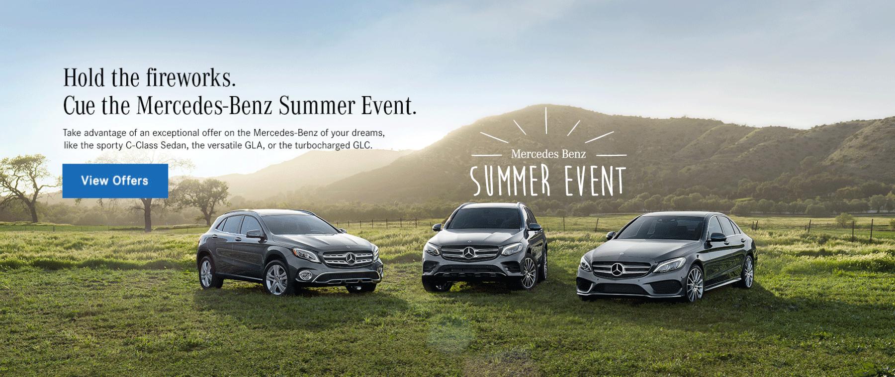 Mercedes-Benz Summer Event Banner