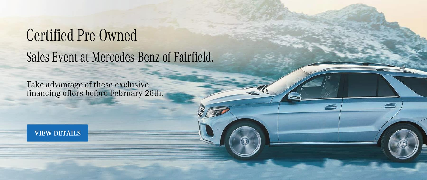 Certified Pre-Owned Sales Event at Mercedes-Benz of Fairfield