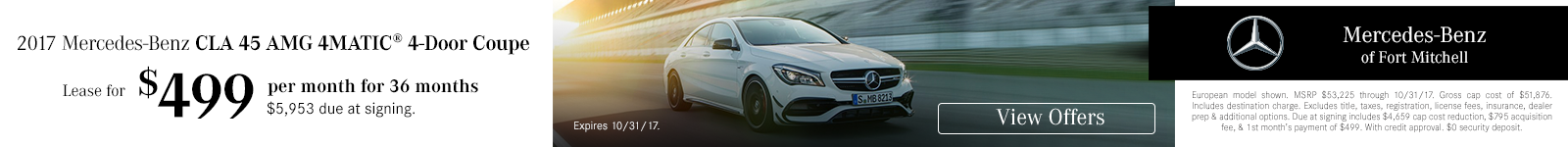 CLA45 Lease Special