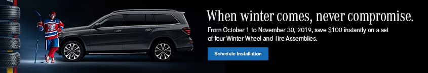 Save $100 instantly on a set of 4 winter tires