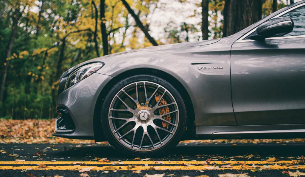 Mercedes-Benz Tires Fall Leaves