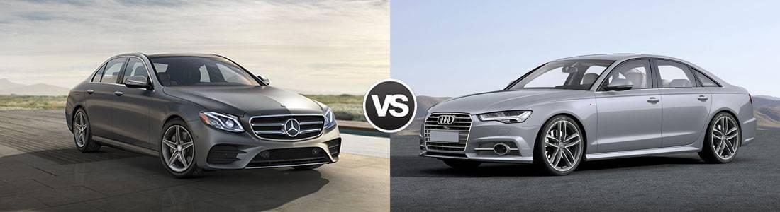 2017 Mercedes-Benz E-Class Sedan vs 2017 Audi A6