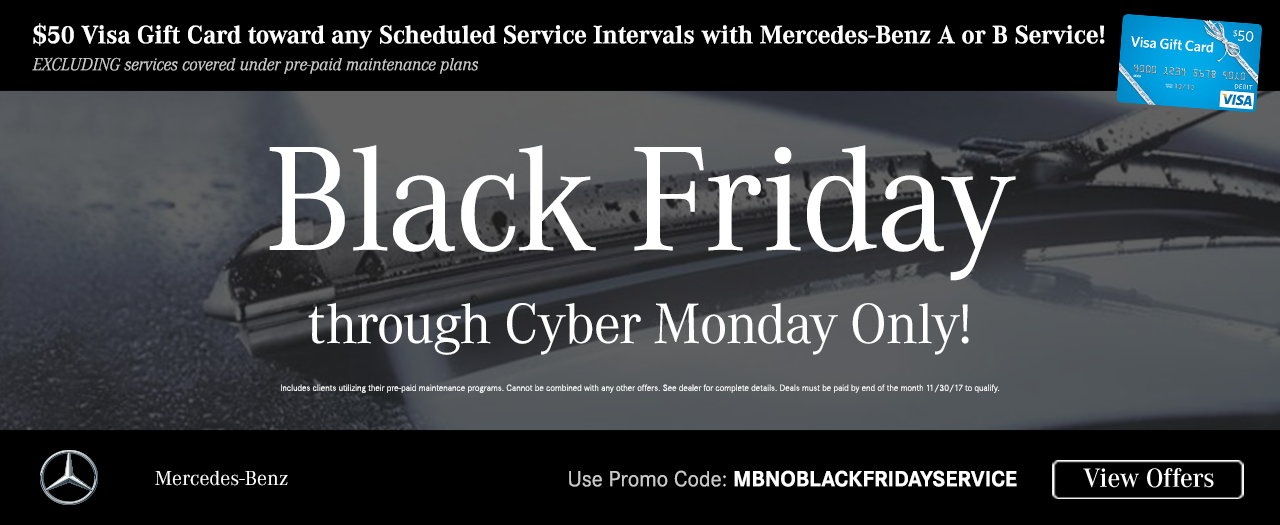 2017 Black Friday Service Offers | Mercedes-Benz of North Olmsted