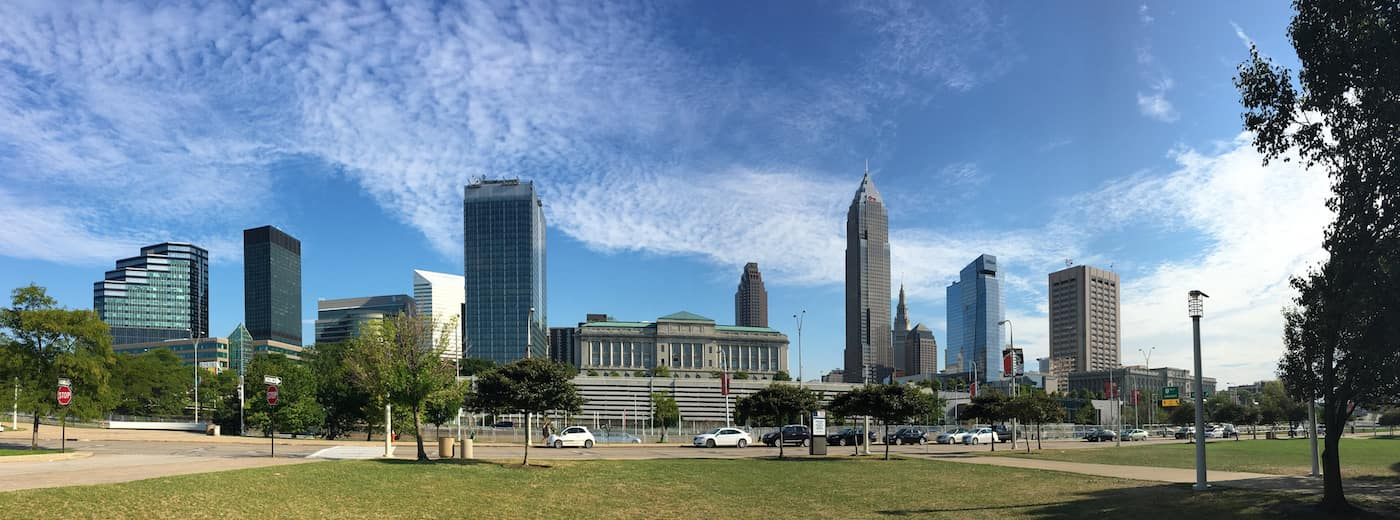 A Panorama of the city center of Cleveland, Ohio