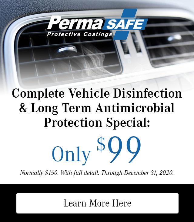 Complete Vehicle Disinfection & Long Term Antimicrobial Protection Special for only $99