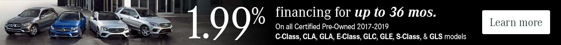 1.99% financing for up to 36 months on CPO