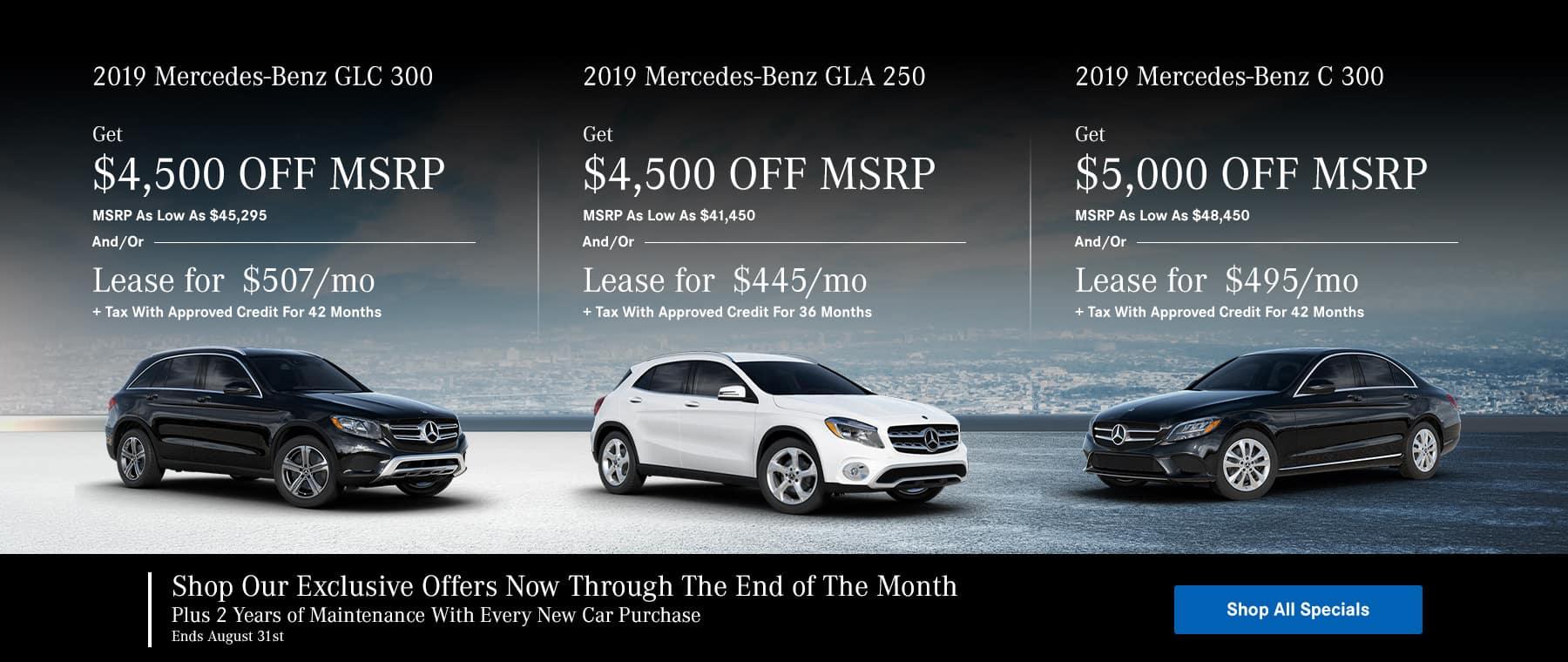 Mercedes-Benz Hot List Specials