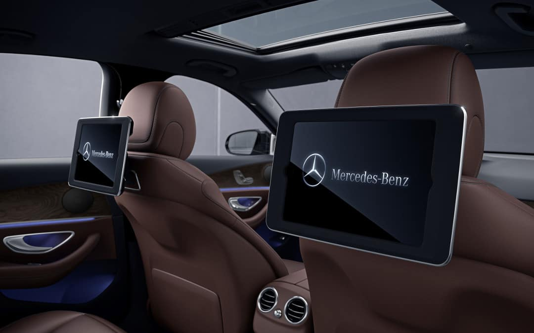 2018 Mercedes-Benz E 300 rear entertainment option