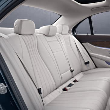 2018 Mercedes-Benz E 300 rear seating