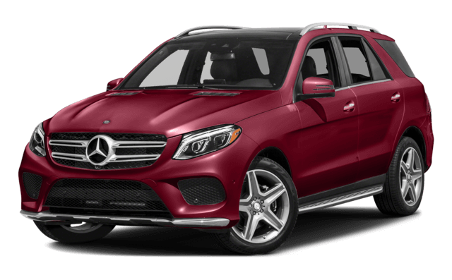Red Mercedes Benz GLE