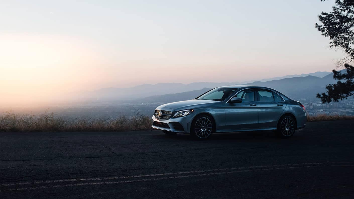 2019 Mercedes Benz C Class Sedan mountain highway