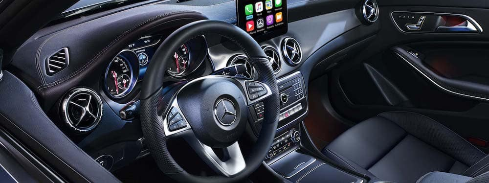 2019 Mercedes-Benz CLA interior front seat and dashboard