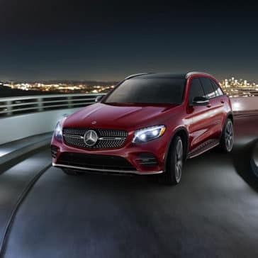 2018 Mercedes-Benz GLC on the highway