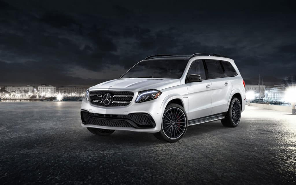2018 Mercedes-Benz GLS at night
