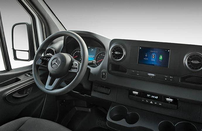driverside interior of van