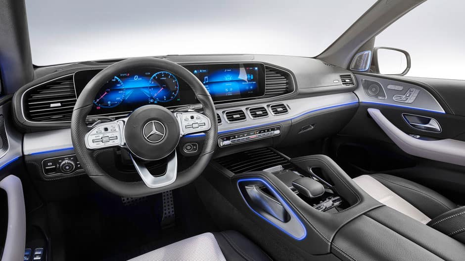 Image of the dashboard of a 2020 Mercedes-Benz GLE.