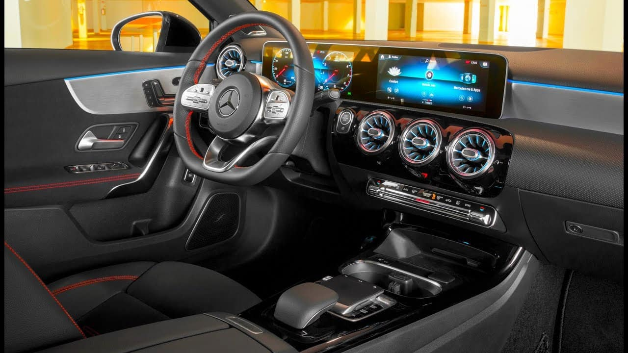 Image of the interior of a 2019 Mercedes-Benz A-Class