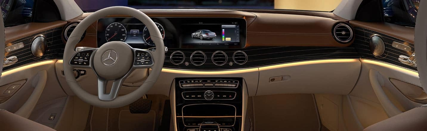 Image of the interior of a 2019 Mercedes-Benz E Class