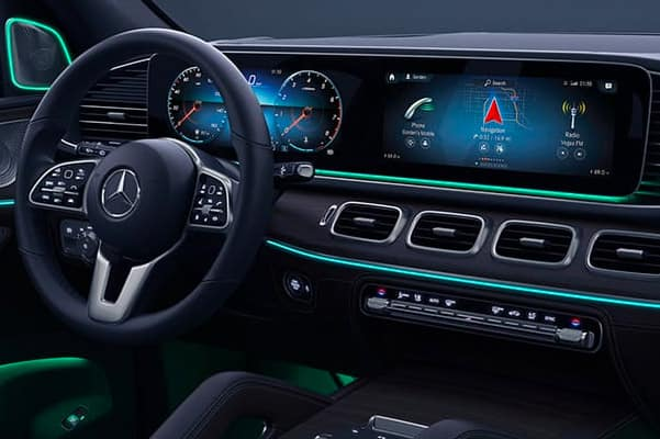 Image of the interior of a 2020 Mercedes-Benz GLE 350.