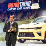 General Motors Executive Vice President Product Development, Purchasing and Supply Chain Mark Reuss accepts the 2016 Motor Trend Award