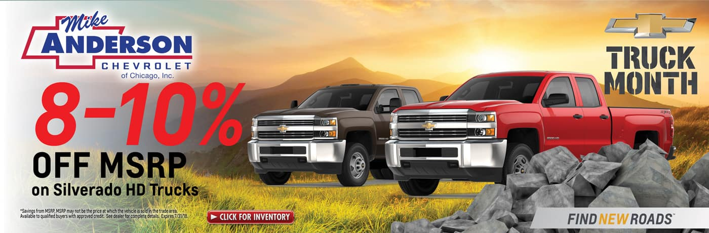 8-10% off Silverado HD Trucks