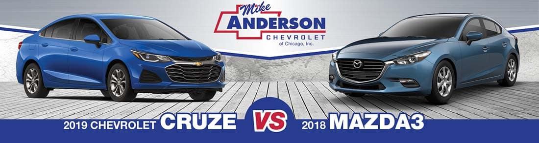 Chevrolet Cruze vs. Mazda3