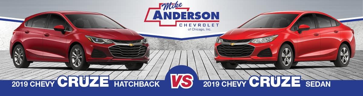 2019 Chevy Cruze Hatchback vs. Chevy Cruze Sedan