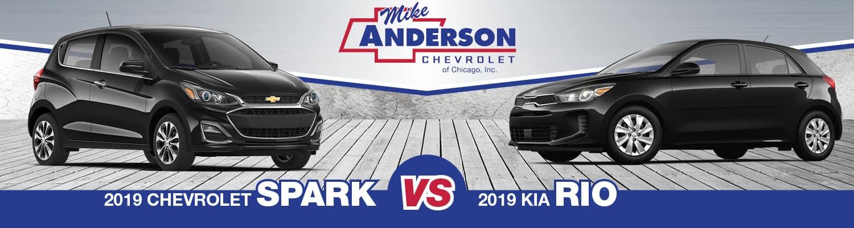 2019 Chevrolet Spark vs 2019 Kia Rio
