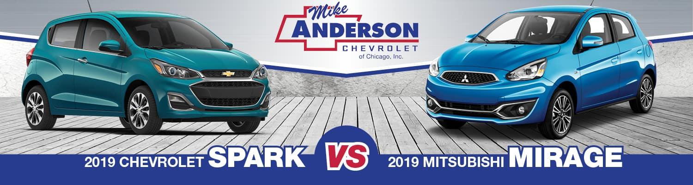 2019 Chevrolet Spark vs 2019 Mitsubishi Mirage