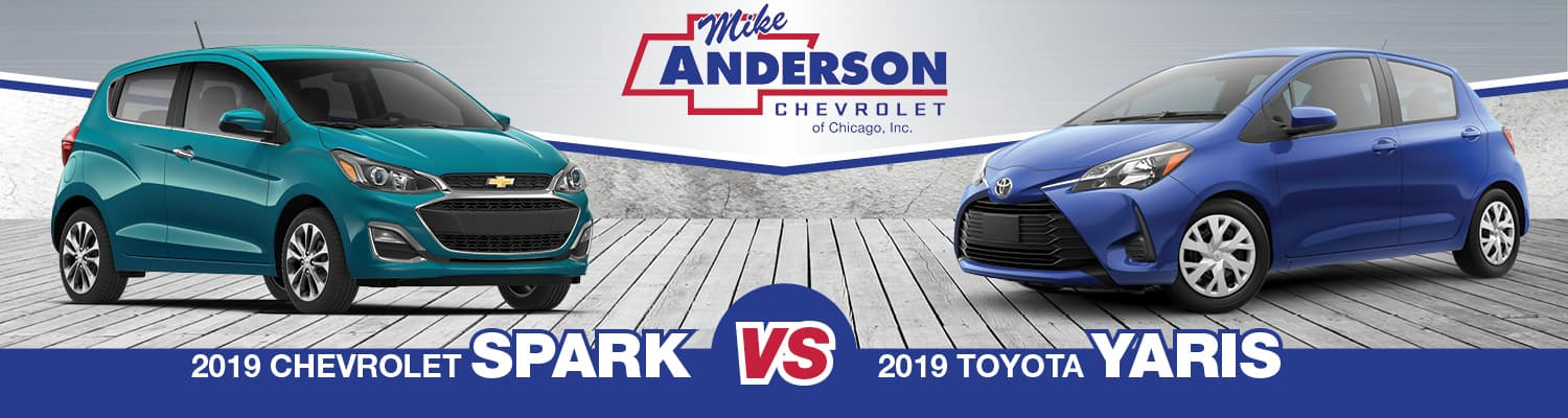 2019 Chevrolet Spark vs 2019 Toyota Yaris