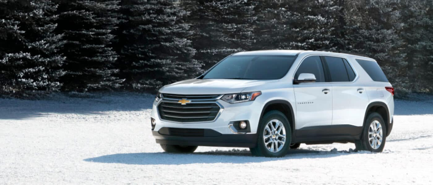 2019 Chevy Traverse in snow