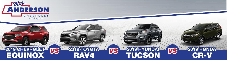 2019 Chevrolet Equinox vs Toyota RAV4 vs Hyundai Tucson vs Honda CR-V