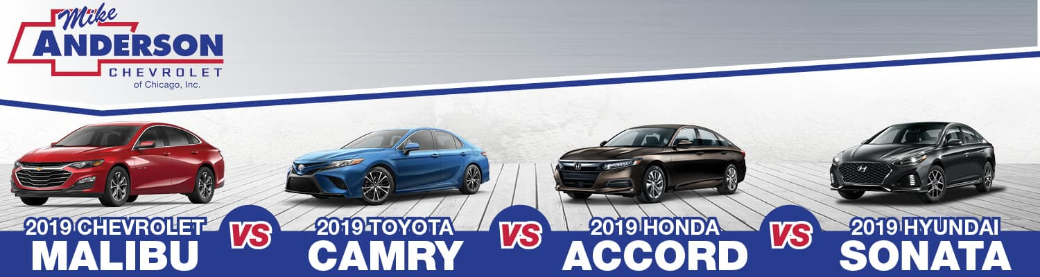 2019 Chevrolet Malibu vs Toyota Camry vs Honda Accord vs Hyundai Sonata