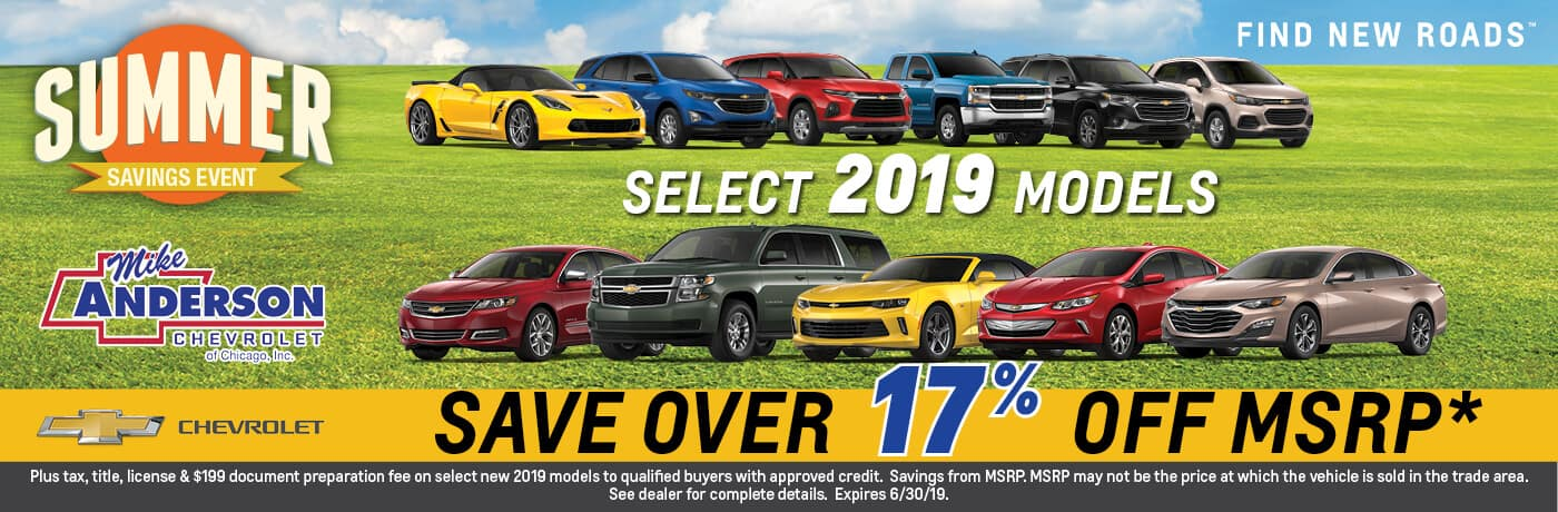 Save Over 17% Off MSRP on Select 2019 Models
