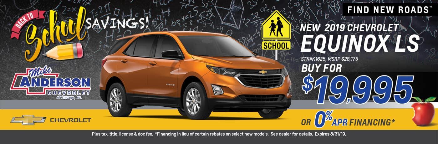 Buy a 2019 Chevrolet Equinox LS for $19,995