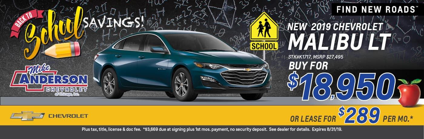 Buy a 2019 Chevrolet Malibu for $18,950
