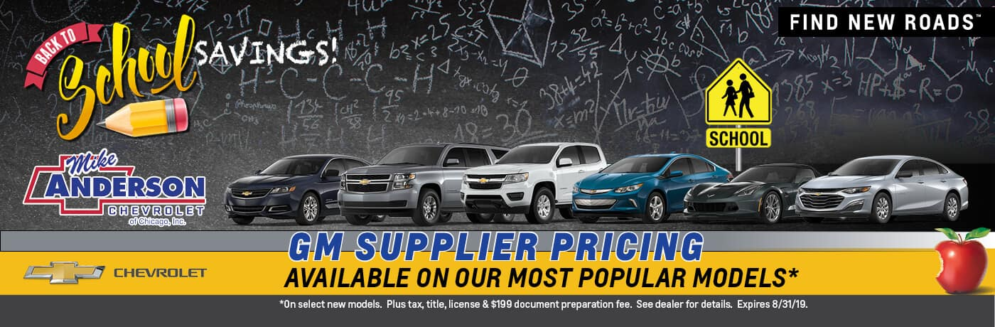 GM Suppler Pricing available on our most popular models