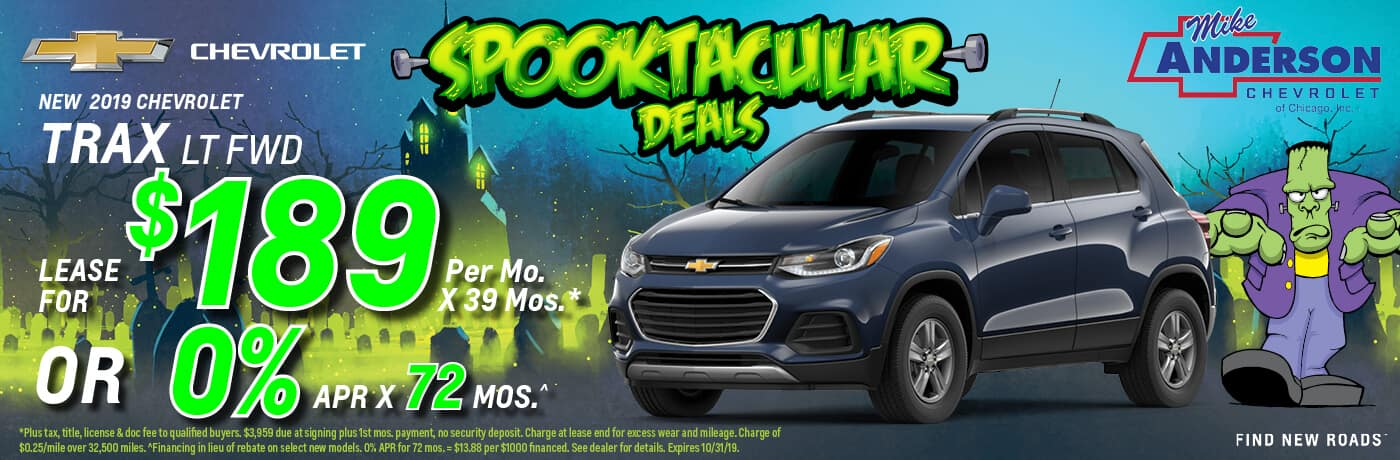 Lease a 2019 Chevy Trax LT for $189/mo. x 39 mos.