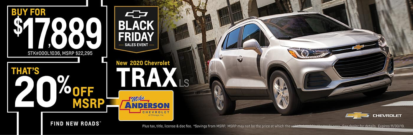 Get 20% off MSRP on a 2020 Chevrolet Trax LS