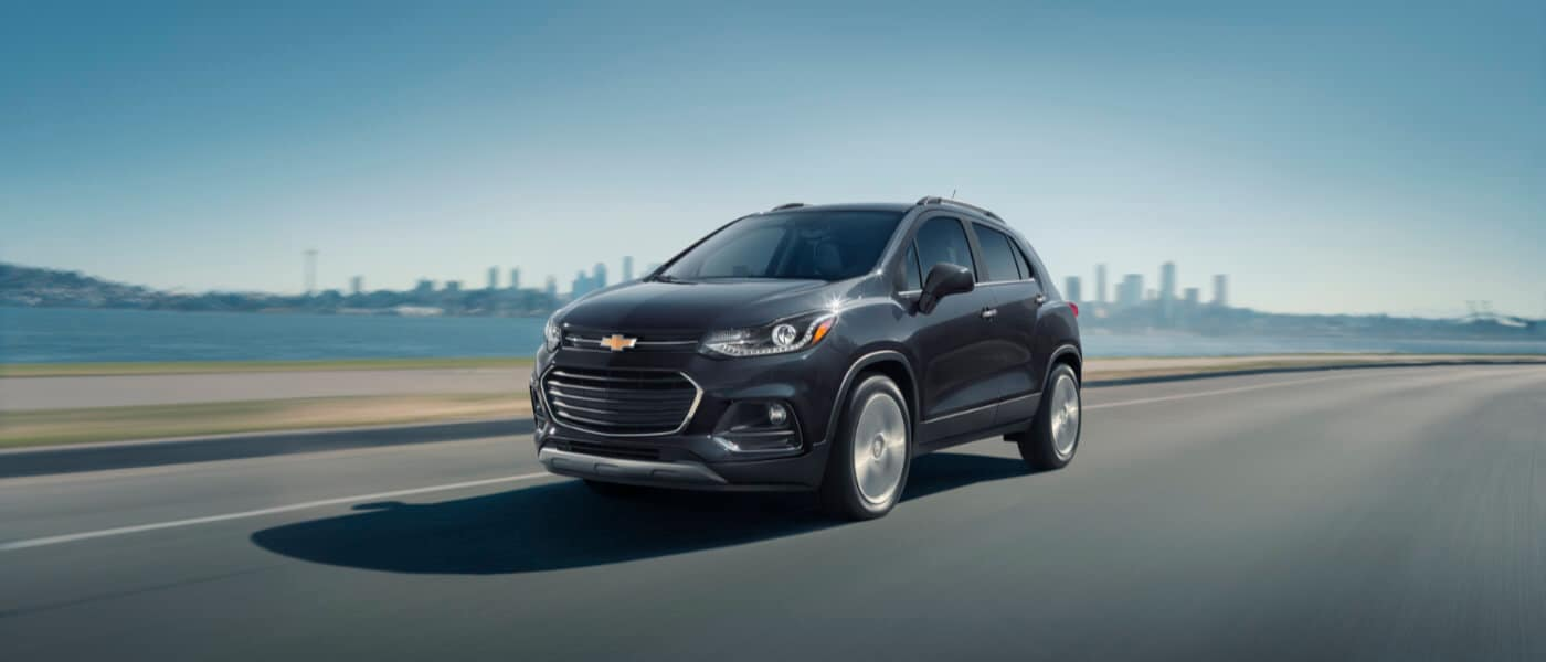 2020 Chevy Trax Exterior Drving with Skyline During the Day