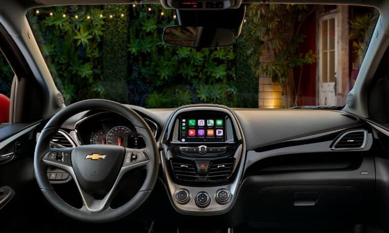 2020 Chevy Spark view of the front dashboard