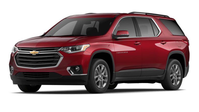 2020 Chevy Traverse LT in Red