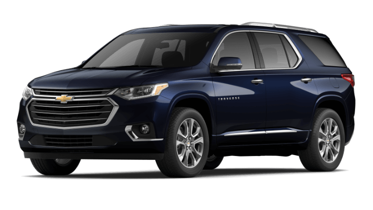 2020 Chevy Traverse Premier in dark blue