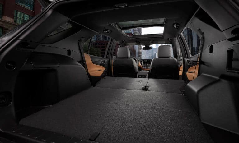 2020 chevy Equinox intierior view from back trunk