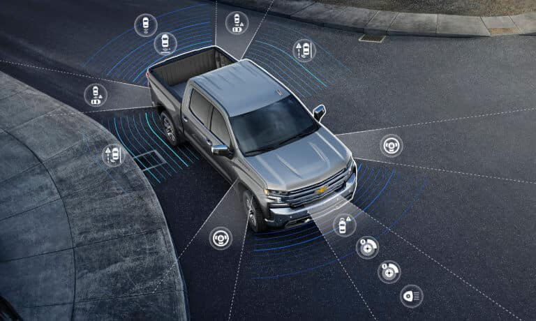 2020Chevy Silverado1500 Exterior showing Safety Icons