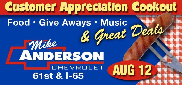 Mike Anderson Chevy Customer Appreciation
